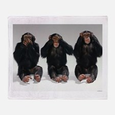 monkeys Throw Blanket