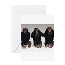 monkeys Greeting Cards