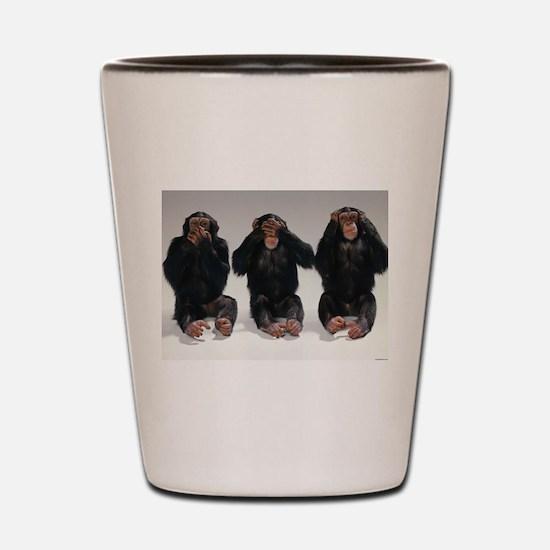 monkeys Shot Glass