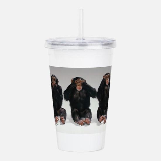 monkeys Acrylic Double-wall Tumbler