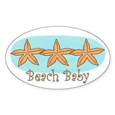 Beach baby Oval Decal