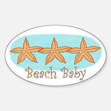 Beach baby Oval Decal