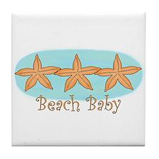 Beach baby Tile Coaster