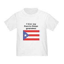 I Love My Puerto Rican Grandma T-Shirt