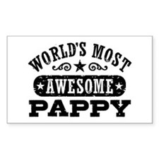 World's Most Awesome Pappy Decal