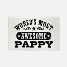 World's Most Awesome Pappy Rectangle Magnet