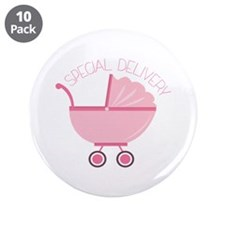 """Special Delivery 3.5"""" Button (10 pack)"""