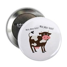 """Moo Moo Here 2.25"""" Button (10 pack)"""