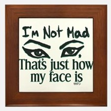 Resting Angry Face Framed Tile