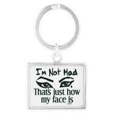 Resting Angry Face Landscape Keychain