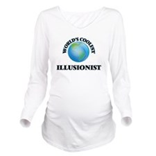 Illusionist Long Sleeve Maternity T-Shirt