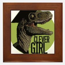 Clever Girl Framed Tile