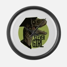 Clever Girl Large Wall Clock
