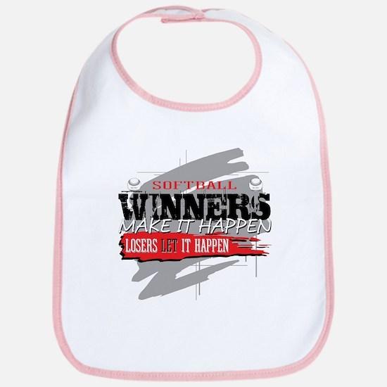Winners and Losers Softball Bib