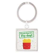 Cute Thank god it's friday Square Keychain