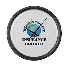 Insurance Broker Large Wall Clock