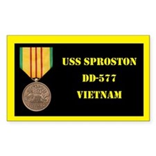 USS Sproston Decal