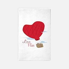Love Flies 3'x5' Area Rug