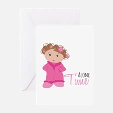 Alone Time Greeting Cards