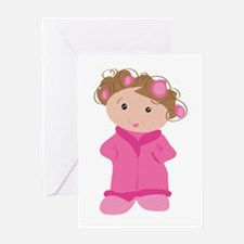 Woman In Curlers Greeting Cards