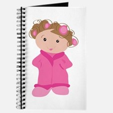 Woman In Curlers Journal