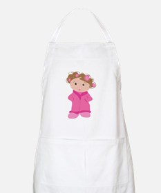 Woman In Curlers Apron