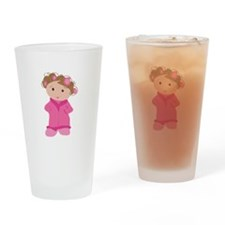 Woman In Curlers Drinking Glass