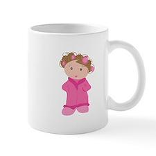 Woman In Curlers Mugs