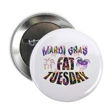 """Fat Tuesday 2.25"""" Button (10 Pack)"""