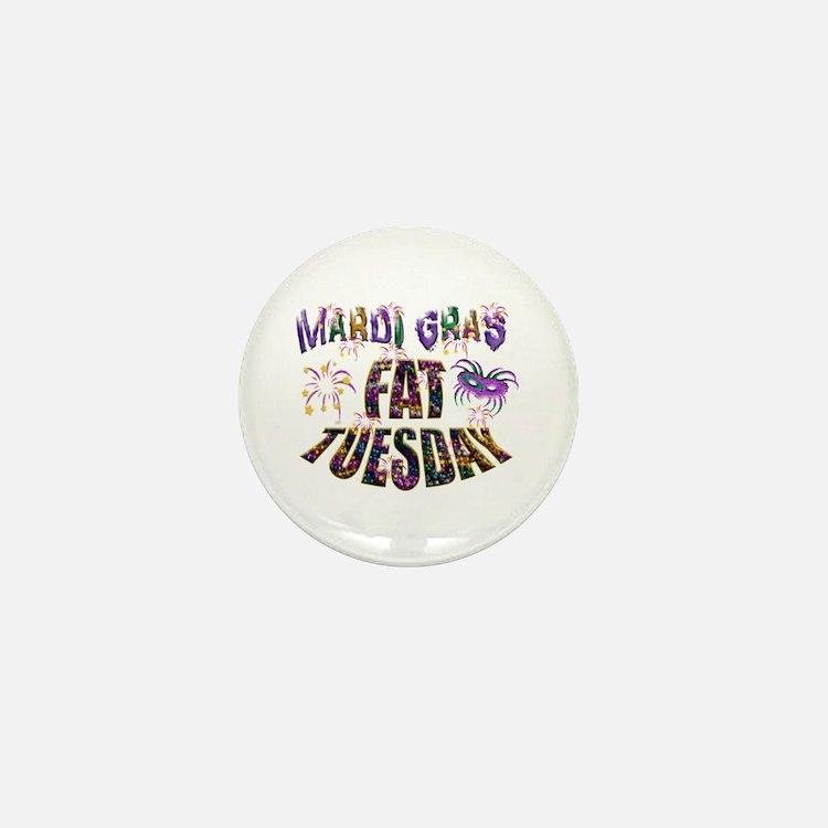 Fat Tuesday Mini Button
