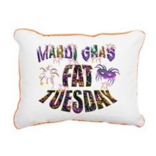 Fat Tuesday Rectangular Canvas Pillow