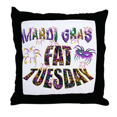 Fat Tuesday Throw Pillow by JWsHolidayStore