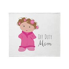 Off Duty Mom Throw Blanket