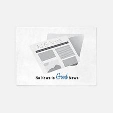 No News Is Good News 5'x7'Area Rug