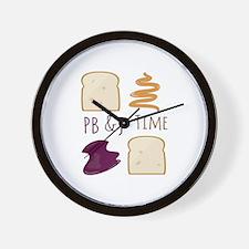 Pb & J Time Wall Clock