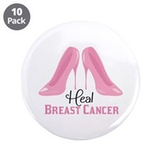 """Heal Cancer 3.5"""" Button (10 pack)"""