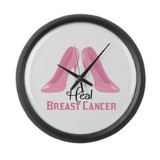 Heal Cancer Large Wall Clock