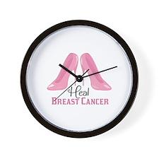 Heal Cancer Wall Clock