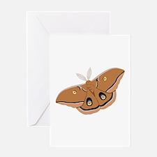 Polyphemus Silk Moth Greeting Cards