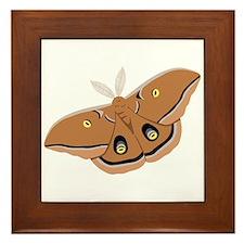 Polyphemus Silk Moth Framed Tile