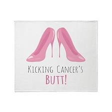 Kicking Cancer Throw Blanket