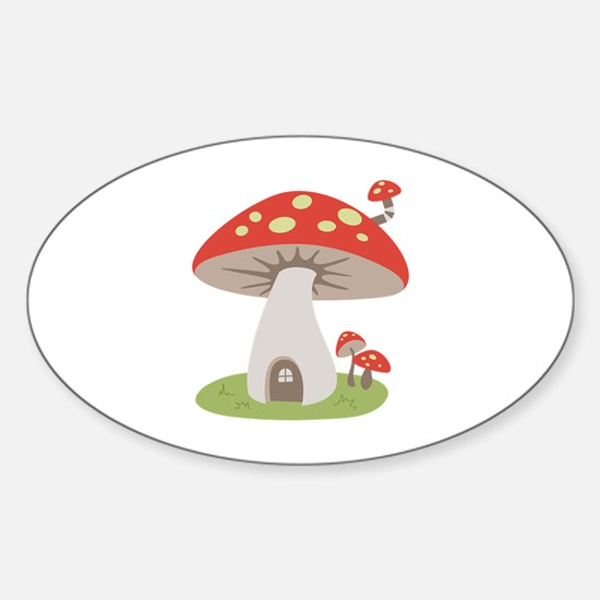 Mushroom House Decal