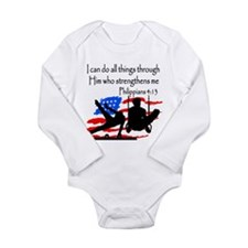 WINNING GYMNAST Long Sleeve Infant Bodysuit
