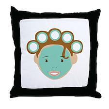 Beauty Treatment Throw Pillow