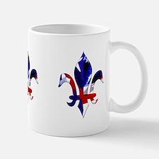 Red, white & blue Fleur de lis Mug