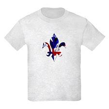Red, white & blue Fleur de lis T-Shirt