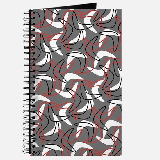 Retro Boomerang Gray Journal