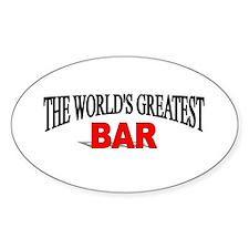 """The World's Greatest Bar"" Oval Decal"