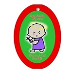 Baby Jesus Oval Ornament