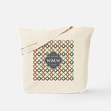 Charcoal Gray Custom Personalized Monogra Tote Bag